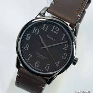 質イコー [タイメックス] TIMEX 腕時計 2R35800 イージーリーダー 40th ホーウィンレザー クオーツ メンズ 未使用品 正規品