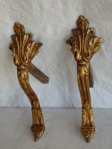 フランスアンティーク カーテンホルダー フック 2個セット ペア パーツ ブロンズ 青銅 ブロカント レリーフ 1880年 19世紀
