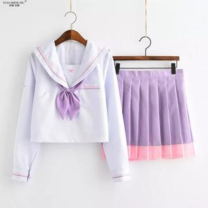 王女の夢学校jk制服クラスカレッジスタイルスーツ日本セーラースーツ学生kwaii 2個プリーツスカートかわいいjkセット新