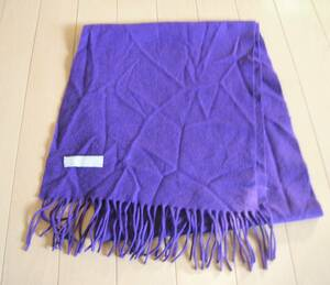 UNIQLOユニクロ カシミヤ マフラー 紫