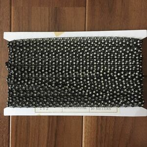 ハンドメイド用 10m 黒/クリスタル