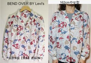 【レディース】【良品保証返品OK】BEND OVER BY Levi's花柄総柄長袖シャツ/80'sビンテージ希少12