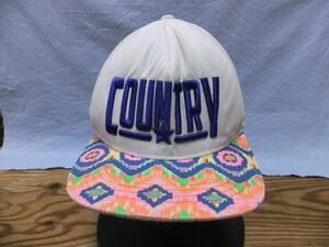 EST MOVE メンズ 綿 コットン100% カントリー刺繍 サイケデリック ネイティブ民族柄 ストリート ベースボールキャップ 帽子 白