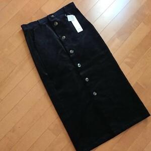 コーデュロイタイトスカート ユニクロXL 黒