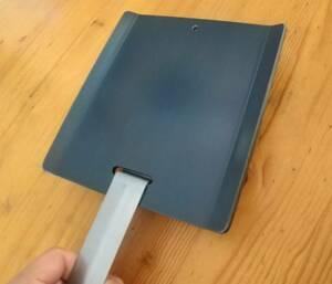 【特別価格】ソロキャンプ用 ミニ鉄板ワイド版 縁有 焼入れ済 即使用可 厚さ4.5mm ③