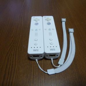 RS045【送料無料 即日配送 動作確認済】Wii リモコン 2個セット ホワイト 白 ストラップ セット