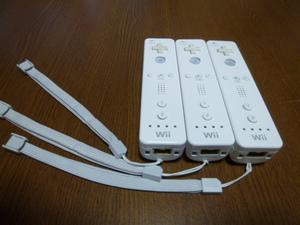 RS013【送料無料 即日配送 動作確認済】Wii リモコン ストラップ 3個セット ホワイト 白 セット