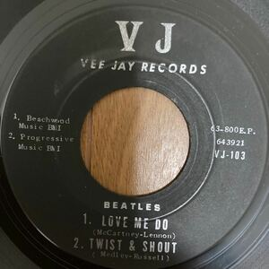 Beatles ビートルズ VJ JAY RECORDS EP盤レコード コンパクト盤 4曲入り