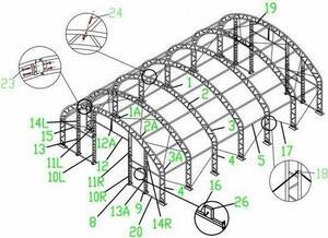大型テント倉庫 幅12m 奥行き18m 高さ6m 格安受注生産します!