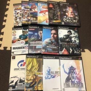 PlayStation2 ソフト14本まとめ売り