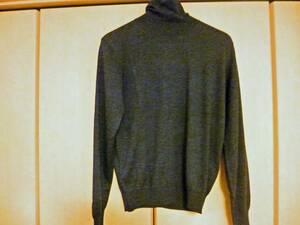 【送料無料】LANVIN SPORT ランバン☆毛100%タートルネックセーター☆サイズ40 Lサイズ☆グレー