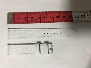 エルメス純正 Hウオッチレディース用 革ベルト 16mm-14mm クイックレバータイプ 新型 白型押し