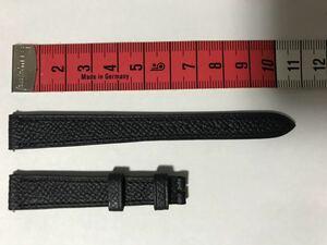 エルメス純正 ミニHウオッチ レディース用 革ベルト 12mm-10mm クイックレバータイプ 新型 黒型押し