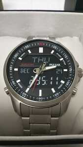 セイコー PULS ARハイブリッド・デジアナ 入手困難 100m防水 ブラック 1/100秒 クロノグラフ 腕時計 デジタル メンズ 新品未使用 逆輸入