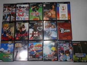 PS2 16枚 ソフト みんなのGOLF3 はじめの一歩 パワフルプロ野球11 NARUTO ガンダム プレイステーション2 PlayStation2 【起動確認済み】