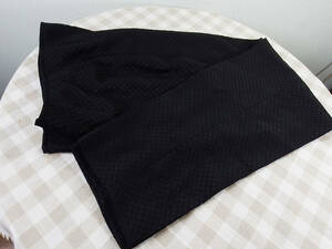 中古品 BLACK TEA レディースパンツ/9号 黒 ポリエステル100% 地模様 ズボン丈89 股下62 股上37