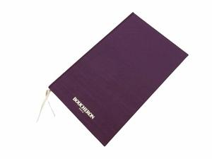 20-3477 【未使用】 BOUCHERON ブシュロン ノベルティ ノート A5サイズ パープル 紫 ハードカバー 保管品 レタパライト可 非売品
