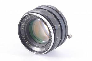 【 明るい単焦点レンズ★】ミノルタ Minolta Auto Rokkor PF 55mm F1.8<前後キャップ>T5860