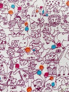 サーカス 動物柄 昭和レトロ アンティーク デットストック はぎれ 生地 リメイク 雑貨 コレクター ハンドメイド 手作り 布 入園入学準備