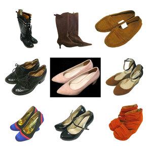 全品ブランド サンダル パンプス 靴 ブーツ 9点 福袋 Mサイズ中心 23.5 24.0 シューズ オールドネイビー グレイル