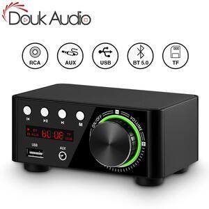 DOUKオーディオミニTPA3116 パワーアンプBLUETOOTH 5.0 受信機ステレオホームカーオーディオUSB U-ディスク音楽プレーヤー