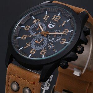 2020 ヴィンテージ古典的な腕時計メンズ腕時計ステンレス鋼防水日付レザーストラップスポーツクォーツ軍レロジオ MASCULINO リロイ
