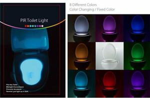 JIGUOOR センサートイレライト LED ランプ人間のモーション起動 PIR 8 色自動 RGB 夜間照明