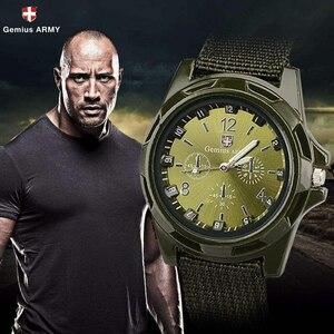 ホット販売軍用時計男性 GEMIUS 陸軍メンズ腕時計メンズスポーツ腕時計ナイロンバンド男性時計リロイ HOMBRE レロジオ MASCULINO