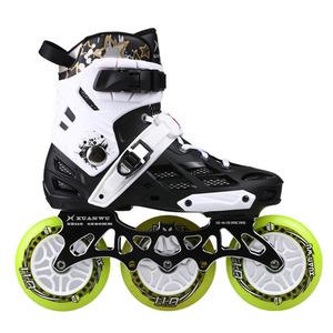 3X110MM大人インラインスピードスケートのための 110 ミリメートル最大ホイールスケート靴ILQ-9 ベアリングCNC合金 7075 スケートフレーム