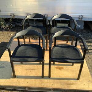 福岡発 スイス製 strassle collection 4脚セット  アームチェア 椅子 イス まとめてA