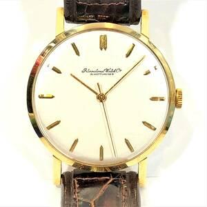▼IWC シャフハウゼン K18 cal89 SCHAFFHAUZEN 750 17石 メンズ 手巻き 腕時計 金 ゴールド