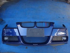 BMW E90 E91 320i 325i 等 Mスポーツ フロント バンパー  381/青.M [7214]