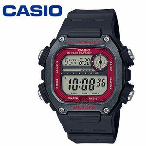 カシオ CASIO オクタゴン デジタル DW-291H-1B ブラック レッド 200M防水 軽量 ユニセックス クワッドタイム メンズ 男性 チープカシオ
