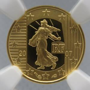 フランス 2007年 金貨(ゴールド) 5ユーロ ユーロ5周年記念 NGC PF70 ULTRA CAMEO【最高鑑定】