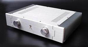 総アルミ製シャーシケース439HB両側ヒートシンク 真空管アンプ パワーアンプ デジタルアンプ ヘッドホンアンプ USB DAC PCオーディオ自作に