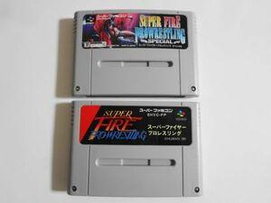 送料無料 即決 使用感あり 任天堂 スーパーファミコン SFC スーパーファイヤープロレスリング SPECIAL セット レトロ ゲーム ソフト b118