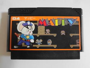 送料無料 即決 任天堂 ファミコン FC マッピー 04 アクション Mappy 可愛い ネズミ ナムコ シリーズ レトロ ゲーム カセット ソフト b144