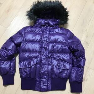 ユニクロ プレミアムダウンジャケット 紫 Sサイズ