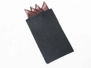 メンズ 正装 ビジネス スーツ タキシード ポケットチーフ ハンカチ 三角×4 一体型#ブラウン