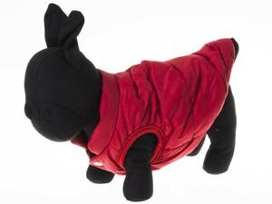 ペット ワンちゃん 中小型犬用 アウトドア ドッグウエア ベスト チョッキ 防寒 もふもふ#XSサイズ/レッド