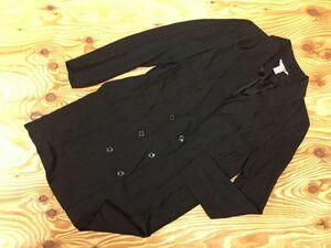 H&M エイチアンドエム ダブル ロング テーラードジャケット レディース レーヨン100% 34 黒
