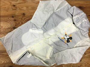 東京ディズニーランド Tokyo Disneyland ミッキーマウス 裏ボア レトロ プリント 防寒 防水 中綿ベンチコート ジャケット メンズ M 白