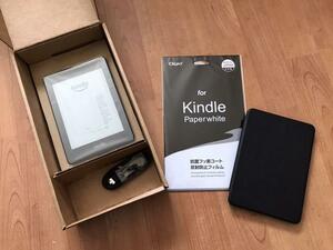 Kindle Paperwhite 第10世代 wifi 8GB 広告つき カバー 保護フィルム セット キンドル ペーパーホワイト 10th amazon アマゾン