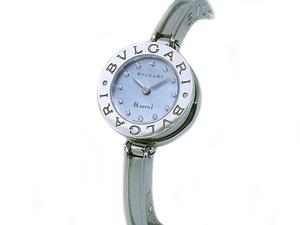 音羽屋■送料無料■ ブルガリ BVLGARI ビーゼロワン B-ZERO1 BZ22S 12Pダイヤ バングル シェル文字盤 レディース クオーツ 腕時計