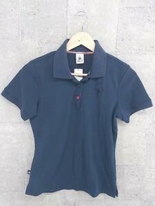 ◇ ◎ le coq sportif ルコックスポルティフ 半袖 ポロシャツ サイズL ネイビー レディース 1002800957255