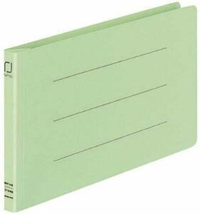 【未使用品】コクヨ フ-V49G 統一伝票用フラット328129011樹脂製とじ具B4 1/3横緑 10冊セット