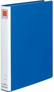 【未使用品】コクヨ ファイル パイプ式ファイル A4 2穴 300枚収容 青 フ-E630B×2冊セット