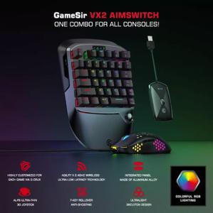 ゲームキーボードおよびマウス GameSir VX2AimSwitch for Xbox One PS4 Nintendo Switch PC for PUBG Call of Duty Video Games i0213