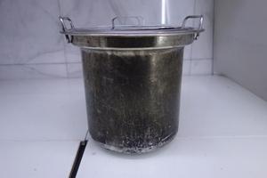 ■M□象印 ZOJIRUSHI スープジャー 内鍋 業務用 内釜 直径約30.5cm 高さ 約26cm 蓋付 TH-CU080 中古□T-2012052■