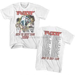 RATT Tシャツ バンドTシャツ ラット 半袖Tシャツ Tee ツアーTシャツ 1989